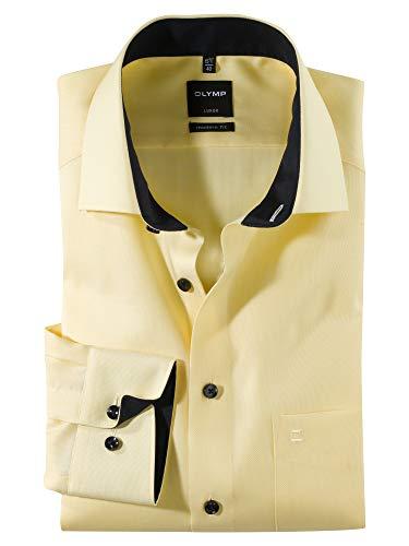 OLYMP Luxor modern fit hemd lange mouwen structuur wit