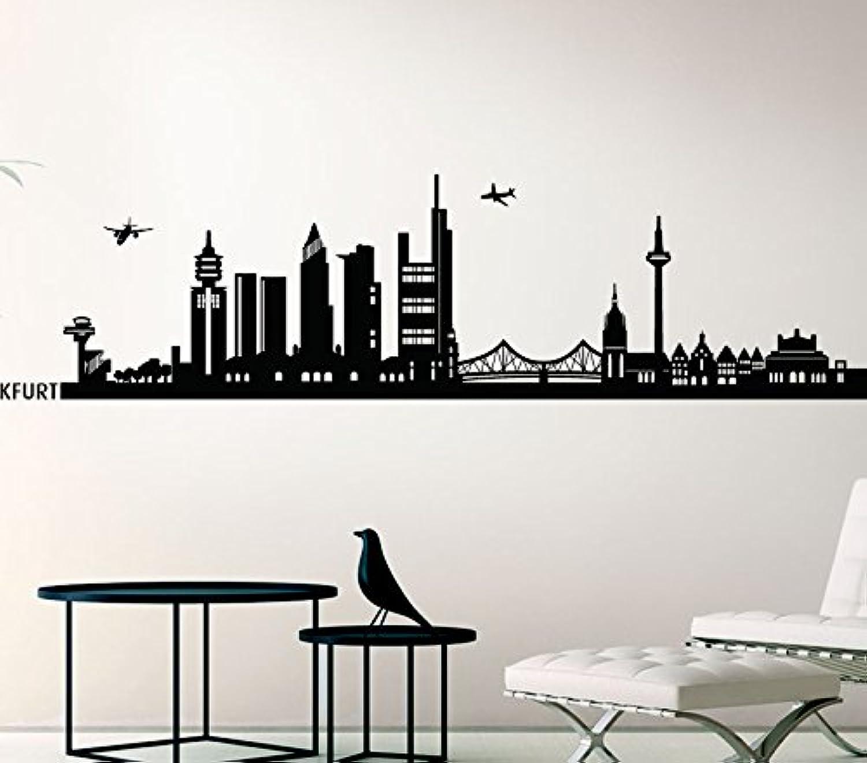Wandora Wandtattoo Skyline Frankfurt I schwarz (BxH) 160 x 38 38 38 cm I Wohnzimmer Flur Küche Kinderzimmer Sticker Aufkleber Wandaufkleber Wandsticker G147 B016MRPC5C 43984a