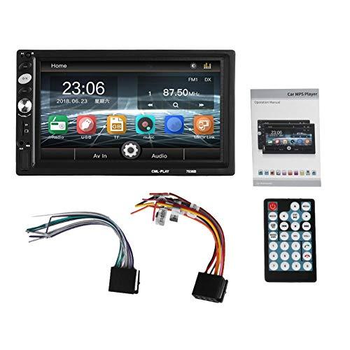 WLGOLD Reproductor de Coche, 7 Pulgadas, Radio de Coche, estéreo, Doble 2Din, HD, Bluetooth, interconexión de teléfono, Reproductor MP5
