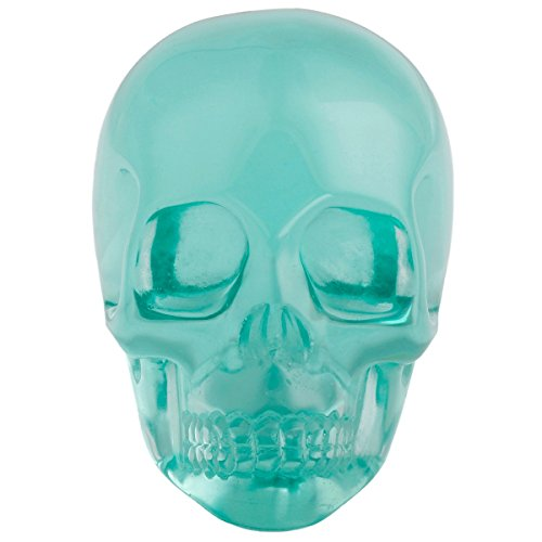 rockcloud Healing Crystal Stone Human Reiki Skull Figurine Statue Sculptures Sea Blue Obsidian 3'