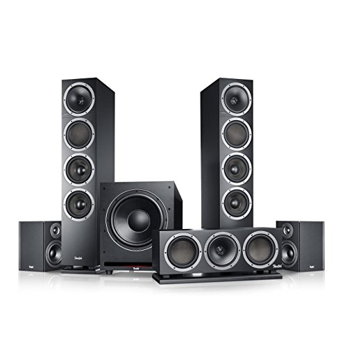 Teufel Theater 500 Surround 5.1-Set Schwarz Heimkino Lautsprecher 5.1 Soundanlage Kino Raumklang Surround Subwoofer Movie High-End HiFi Speaker