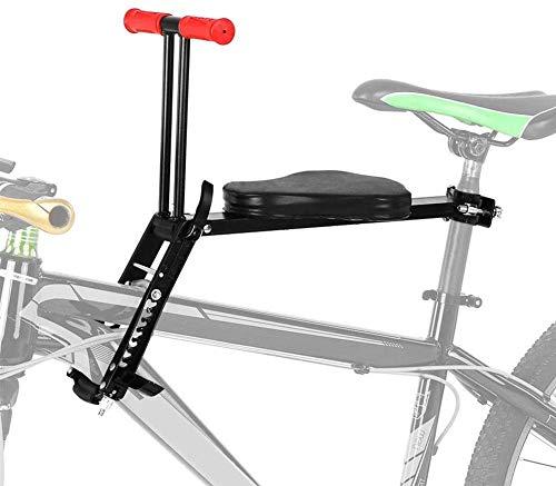 JIBO Tragbar Kinder Vorderseite Sitz, Vorderseite Montieren Fahrrad Träger Sitz Faltbar Kind Fahrrad Sitz Leicht Fahrrad Vorderseite Montieren Träger,Black