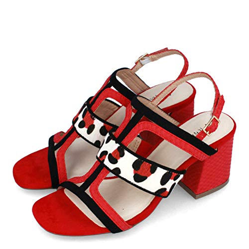 Menbur Antona Sandalen/Sandaletten Damen Rot - 36 - Sandalen/Sandaletten Shoes