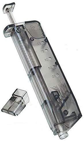 KS-11 Speedloader passend für 90 Kugeln 6mm BB incl. Pistolen Adapter für schnelles u. sicheres Nachladen von Premium Airsoft Munition - Softair zubehör