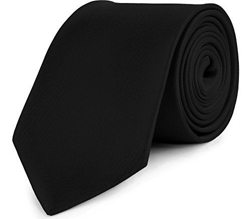 Ladeheid Herren Breite Krawatte KP-8 (150cm x 8cm, Schwarz)