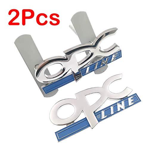 NA 2Pcs 3D Metal OPC Line Emblema Insignia de la Cola del