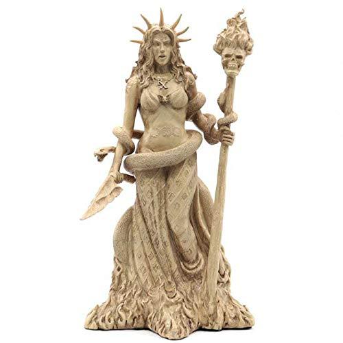 TSMALL Antike griechische Statue, Hexenschutzgott mit Schlangen-Meditationsfigur, Mini-Harzstatue,22 * 10cm