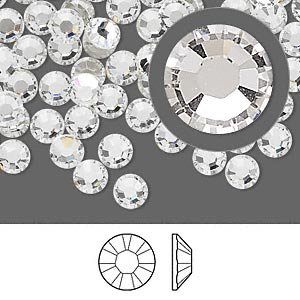 Genuine SWAROVSKI CRYSTALS FOILED FLAT-BACK 2058 RHINESTONE GEM - Crystal Clear 3.8mm (SS16) 50 Crystals in Pack