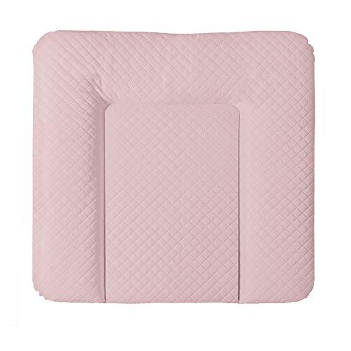 Ceba Baby Wickelauflage Wickelunterlage Wickeltischauflage 80x75 cm, 50x70 cm, 70x75 cm Abwaschbar gesteppt - Pink 70x75 cm