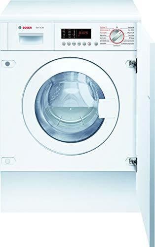 Bosch WKD28542 Serie 6 Einbau-Waschtrockner / B / 1080 kWh/Jahr / 7/4 kg / 1400 UpM / Weiß mit Glastür / AutoDry / AquaStop / NightWash