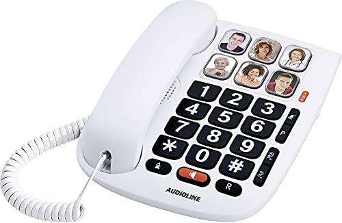 Audioline Tmax 10 Schnurgebundenes Telefon, analog Freisprechen Weiß
