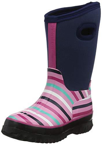 Hatley Jungen Mädchen All Weather Boots Gummistiefel, Blau (Winter Stripe 400), 19 EU
