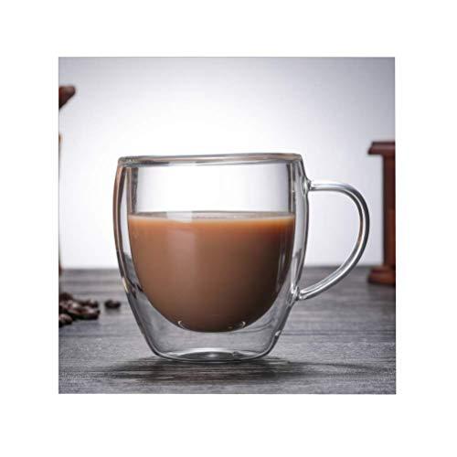 Vasos de doble pared para té, café, tazas de café, tazas de café con aislamiento térmico, vasos de leche de 250/350 ml, vasos térmicos clásicos para café espresso, capuchino y latte