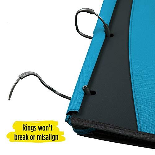 Five Star Flex Hybrid NoteBinder, 1 Inch Ring Binder, Notebook and Binder All-in-One, Teal (73420) Photo #3