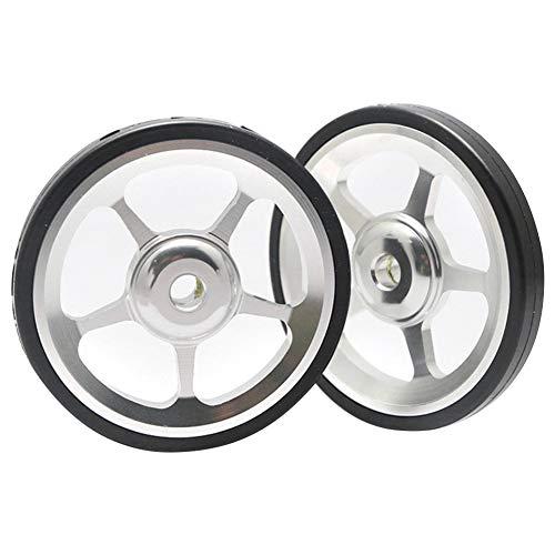 1 par de ruedas y pernos de aleación de aluminio para bicicleta plegable Brompton, color Plateado, tamaño Tamaño libre