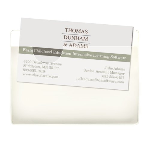 Smead Self-Adhesive Poly Pocket, Business Card Size, Clear, 100 per Box (68123)