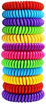 Mosquito Bracelets 12pcs Japan Maker New 100% Superior All Natural Oil Plant-Based Mosqu