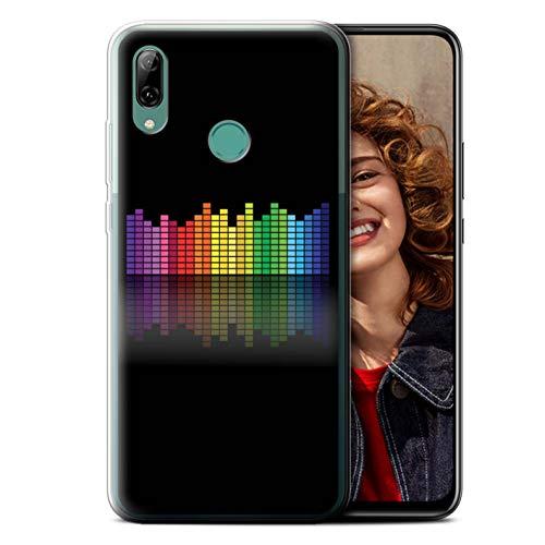 eSwish Carcasa/Funda TPU/Gel para el Huawei P Smart Z/Y9 Prime 2019 / Serie: Colores Neón - Ecualizador Gráfico EQ