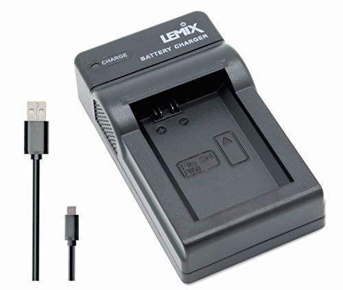 Lemix (FW50) Ultradunne USB-oplader voor de Sony NP-FW50-batterij voor de vermelde modellen uit de SONY Alpha, NEX & SLT-serie