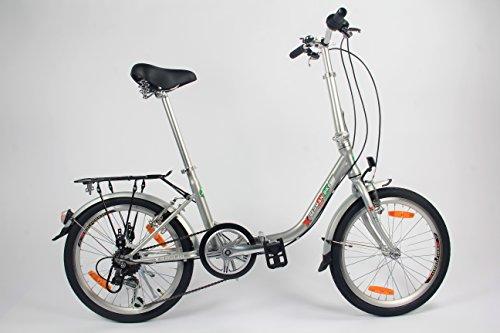 Sonderpreis: GermanXia Faltrad 20 Zoll Comfort 6-Gang Shimano Silber