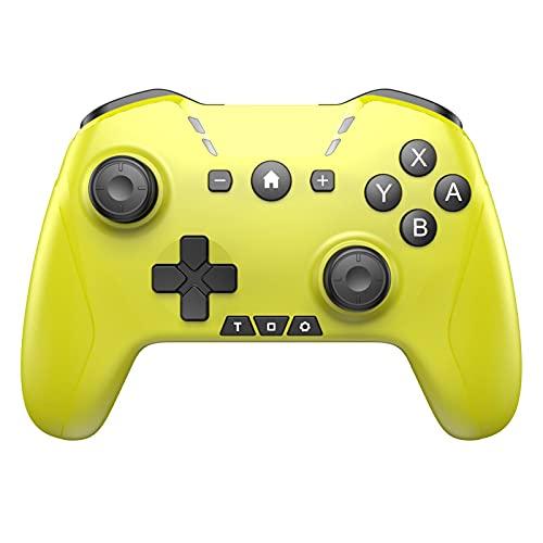 GAOYUAN Controlador Inalámbrico Pro Bluetooth Gamepad para Consola Switch Pro Mando a Distancia con Joystick Gamepad Vibración Dual Somatosensory de Seis Ejes Ergonómico...