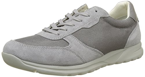 Geox Herren U Damian C Sneaker, Grau (Stone), 43 EU