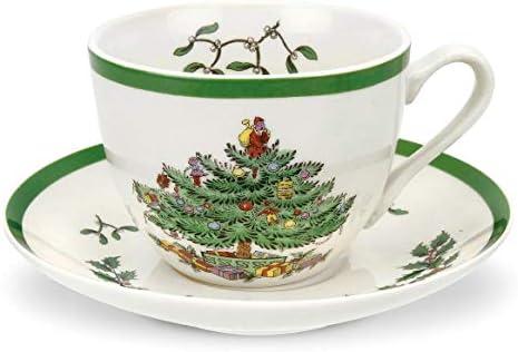 NEW Ceramic Fine China Green Leaf Coffee Tea Cup Saucer Set Christmas Xmas Gift
