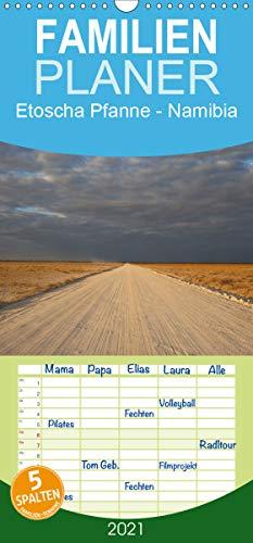 Etoscha Pfanne - Namibia - Familienplaner hoch (Wandkalender 2021, 21 cm x 45 cm, hoch)