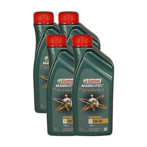 Castrol Magnatec Professional OE 5W40 - Olio per Auto, Lubrificante 5W-40 4 Litri