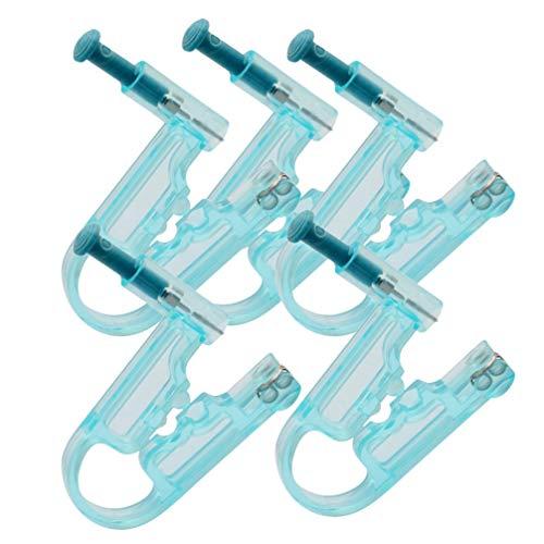 Mobestech 5 unidades de pistolas desechables para perforar la oreja, piercing de nariz, sin dolor, seguro para cuerpo, labios, nariz, nariz, etc.