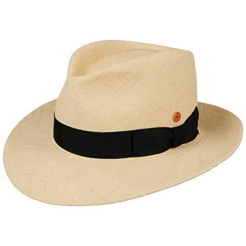 Mayser Sombrero Bogart Panamá Hombre - Made in The EU de Paja Sol Playa con Banda Grosgrain,...