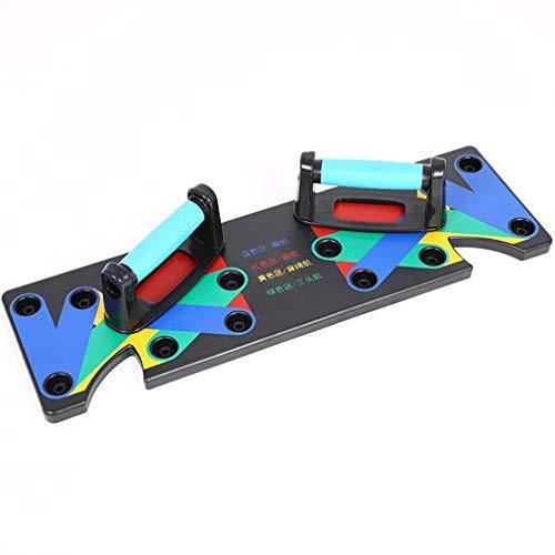 Multifunctionele push-up ondersteuning Mannelijke fitness Lichaamsapparatuur Thuisoefening Borst Spierarm Spiertype Kleine plaat (veelkleurig)