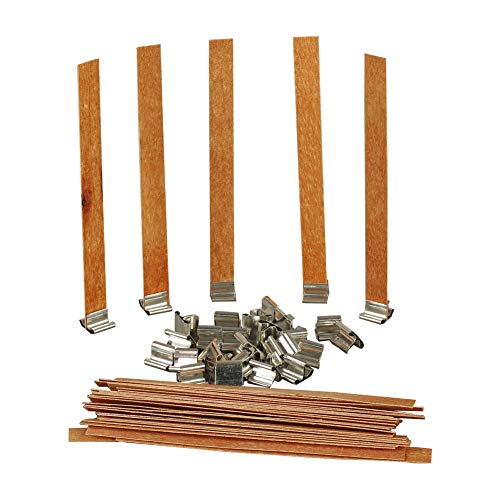30Set Natural Wood Candle Wicks for Candle Making DIY Wood Wicks for Soy Wax Aromatherapy Wax Chip Wick Smokeless