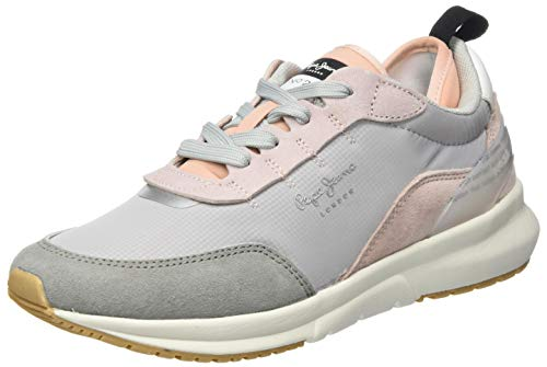 Pepe Jeans N22 Summer, Zapatillas Mujer, Gris Light Pink 315, 37 EU