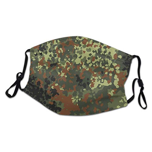 German Bundeswehr Flecktarn Camo Face Masks Mouth Cover for Men's and Women's Outdoor Activities, Running, Motorcycle Riding