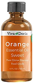 Viva Doria 100% Pure Sweet Orange Essential Oil Undiluted Food Grade Southeast - USA Orange Oil 118 mL  4 Fl Oz
