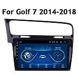 XXRUG Navegador GPS del Coche para Volkswagen Golf 7 2014-2018 HD con Pantalla táctil de 10 Pulgadas estéreo Bluetooth Radio FM incorporada en la Unidad Principal DSP