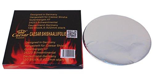 Caesar Shisha Aluminium Folie - 100 Blatt - ungelocht | Für Wasserpfeifen