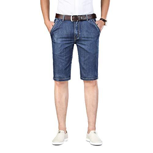 Jeansshorts voor heren Mode Europese en Amerikaanse trend Slanke dunne shorts Casual denim Slanke rechte vijfpunts spijkerbroek 28