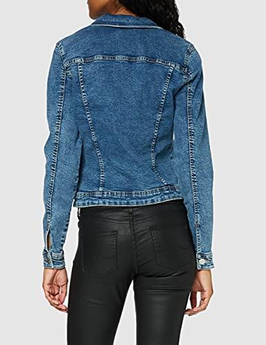 Only Onltia Dnm Jacket BB MB Bex02 Noos Chaqueta Vaquera, Azul (Medium Blue Denim Medium Blue Denim), 38 (Talla del Fabricante: 36) para Mujer