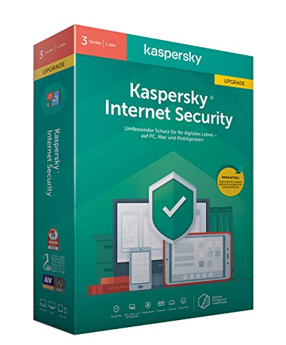 Kaspersky Internet Security 2020 Upgrade | 3 Geräte | 1 Jahr | Windows/Mac/Android | Aktivierungscode in Standardverpackung