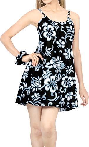 LA LEELA Women Nightgown Sexy Sleeveless Short Nightshirt Slip Sleepshirt Chemise 16 18 Black product image
