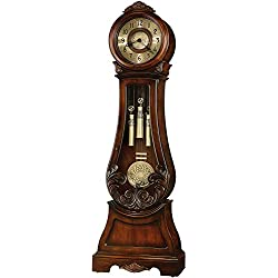 Howard Miller Diana Grandfather Clock 611-082 – Embassy Cherry with Single-Chime Movement