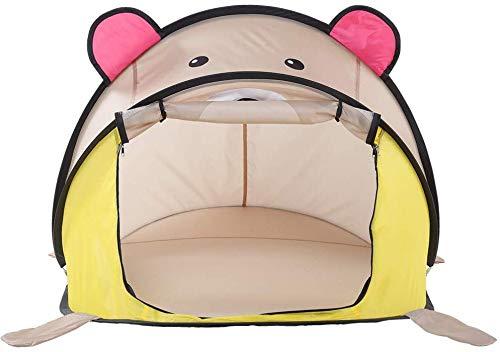 Family Tent Children's Tent Indoor Baby Cartoon Bear Playhouse Bedroom Summer Mosquito Net Play Fir Children Outdoor Tent Pink Automatic Camping Tent eternal