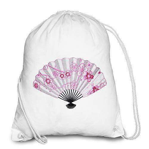 Bolsa de deporte de algodón hipster vintage, mochila para mujer, diseño de mandala, para hombre, mujer o chico, mochila de deporte, estilo bohemio, decoración blanca japonesa feng shui Sakura