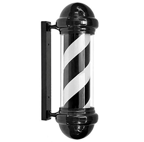 YRYBZ 75cm Classique Style Poteau De Barbier Noir et Blanc Rayures Lumineuse Pivotante pour Coiffure Salon Signe/A