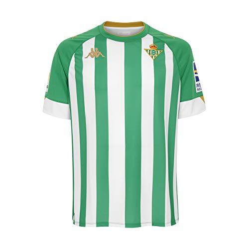 Kappa Primera equipación Real Betis, Camiseta, Hombre, Verde/Blanco, L