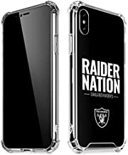 Skinit Clear Phone Case for iPhone X/XS - Officially Licensed NFL Oakland Raiders Team Motto Design
