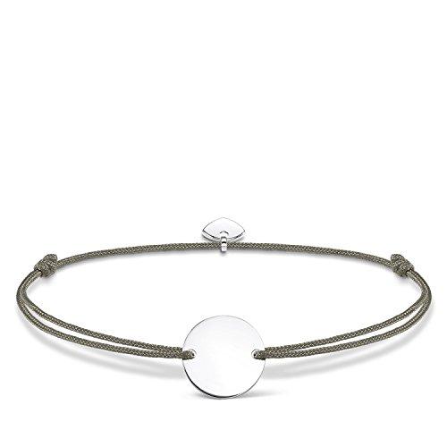 Thomas Sabo Damen-Armband Little Secrets 925 Sterling Silber Silber Grau LS025-173-5-L20v