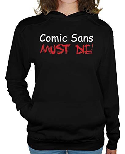 latostadora - Jersey Comic Sans Must Die para Mujer Negro S